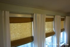 homemade curtain rod is electrical conduit, which you can find at any hardware store
