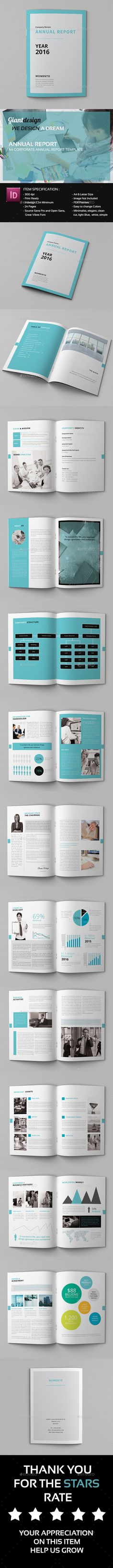 Annual Report Template InDesign INDD. Download here: http://graphicriver.net/item/annual-report/14644132?ref=ksioks
