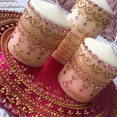 Wedding mehndi thaal candle set home decor Mini Candles, Gold Candles, Small Candles, Diwali Candles, Henna Candles, Mehndi Decor, Henna Mehndi, Creation Bougie, Candle Wedding Favors