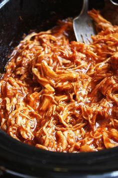 Easy Crock-Pot BBQ Chicken - Seriously one of the easiest and most delicious recipes I have ever made! You will be blown away by the flavor in this chicken that comes from just a few simple steps. Slow Cooker Recipes, Crockpot Recipes, Delicious Recipes, Chicken Recipes, Chicken Dips, Smoker Recipes, Rib Recipes, Dinner Recipes, Dinner Crockpot