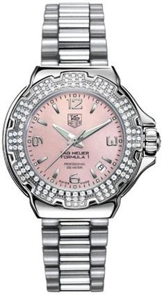 TAG Heuer Women's Diamond Pink Dial Formula One Watch WAC1216.BA0852