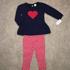 12m Valentine's Day Outfit ❣ Very cute warm Valentine's Day outfit 12m  NEW with tags Carters Other