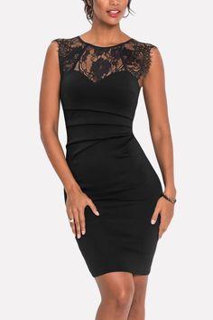 Women Dark-blue Lace Splicing Sleeveless Ruched Sexy Party Dress - S Halter Mini Dress, Maxi Dress With Sleeves, Party Dresses Online, Dress Online, Lace Dress Black, Blue Lace, Sexy Party Dress, Mid Length Dresses, Boho Dress