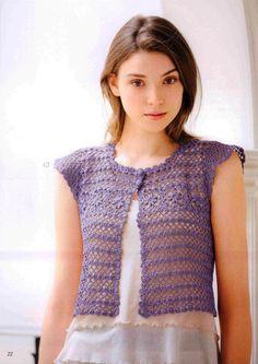 Crochet Lace Vest Pattern - Simple and Stylish Crochet Bolero, Crochet Vest Pattern, Crochet Jacket, Thread Crochet, Crochet Cardigan, Easy Crochet Patterns, Irish Crochet, Knit Crochet, Crochet Tops