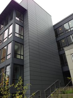 The Lyric Apartments, Natura Fiber Cement Boards on a rainscreen system. Designed by Runberg Architecture Group. Cladding Design, Cladding Panels, Exterior Cladding, Facade Design, Exterior Design, Fibre Cement Cladding, Fiber Cement Siding, Building Exterior, Building Facade