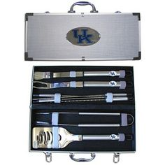 Kentucky Wildcats NCAA 8 Pc. BBQ Barbeque Utensil Set with Aluminum Case