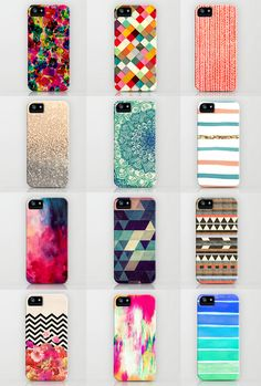 Best of the Best! If you know what phone your friend has, these make a perfect gift! 12 lovely iPhone cases from Society6.