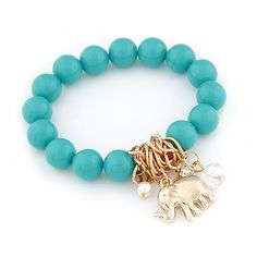 D'or Designs Tibetan Beads Elephant Pendant Charm Stretch Bracelet For Women (6 Colors) -- Want to know more, click on the image.