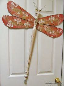 Lucy Designs: Table Leg and Spindle Dragonflies and Butterflies Zebra, Pink Fleur De Lis, Chevron, Swirl, Metal Strapping Designs and More