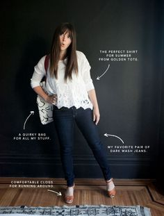 lacey  top, dark wash skinny jeans and comfy sandals- perfect mom wear
