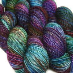 DESTINATIONS basic sock yarn MUMBAI hand dyed by lanitiumexmachina