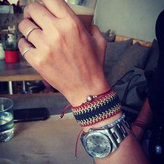 Micro macrame bracelet by MyCraftYourArt