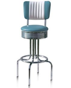 American 50s Style Diner Bar Stools - BS28CB Bel Air Retro Diner Bar Stool