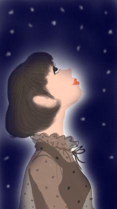 見上げてごらん夜の星を #illustration#girl#イラストレーター#女の子