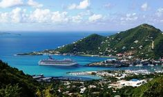 A view of Tortola BVI, the capital of the British Virgin Islands