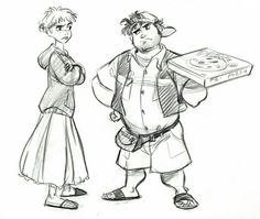 The original character designs for Disney's Rapunzel Unbraided by Jin Kim (Part The idea for Tangled (Rapunzel Unbraided) was originally the concept for Disney's Enchanted, a live-action film that. Character Poses, Character Design References, Character Concept, Character Art, Concept Art, Character Inspiration, Boy Illustration, Illustrations, Disney Romance