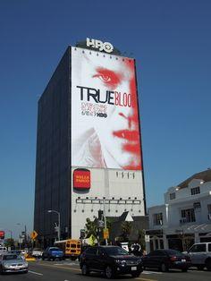 Bill Compton- True Blood billboard in Los Angeles.  Now THAT'S an elaberate  billboard!