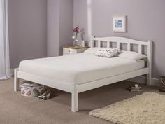 """Snuggle Beds Amberley White 2' 6"""" Small Single Bed Frame White 