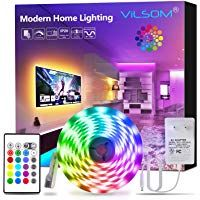 Vilsom Led Strip Lights 16 4ft Rgb 5050 Leds Color Changing Light Strip Kit With Remote And 12v Power S In 2020 Led Strip Lighting Color Changing Lights Strip Lighting