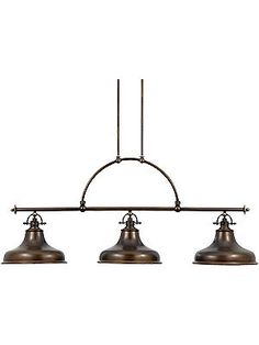 Antique Pendant Light. Emery 3 Light Island Chandelier With Choice of Finish