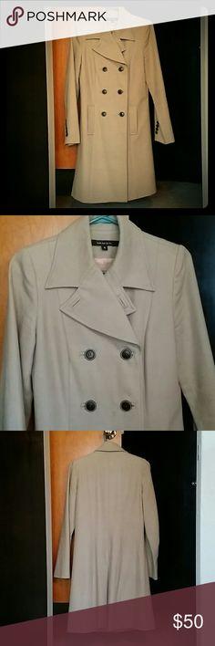 Long Tan Dress Coat (wool Trench Coat)