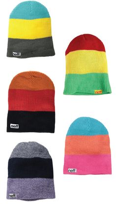 Neff Trio Beanie. Colorful  and fun. Great Christmas gifts for teenage boys.