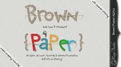 Brown Paper Alpha