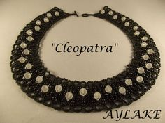 "How to do famous necklace ""Cleopatra""  - very short embellished netting animation.  #Seed #Bead #Tutorials"
