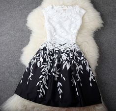 Luxury Designer Elegant Leaves Stitching Lace Embroidered Dress - White