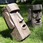 Moai of  Easter Island ~ great for tropical party ;)
