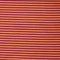 Jersey bio stretch rayé orange/lie-de-vin