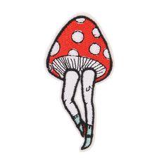 cartoon leg mushroom patch human leg boho hippie iron on applique bada DFC Applique Fabric, Sewing Appliques, Iron On Applique, Embroidery Applique, Cartoon Legs, Human Leg, Iron On Patches, Hippie Boho, Badge