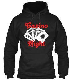 Casino Night Black Sweatshirt Front