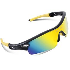 77172122751 RIVBOS 805 POLARIZED Sports Sunglasses Glasses with 5 Set Interchangeable  Lenses for Cycling