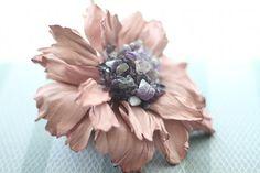 Leather Flower Hair Clip art.21V4R44req43452    91.27€