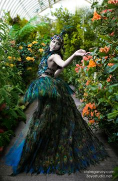 Peacock Fantasy Fairy Gown.