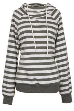 Cupshe Last Temptation Stripe Hooded Sweatshirt