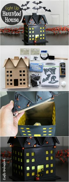 Easy Light Up DIY Haunted House