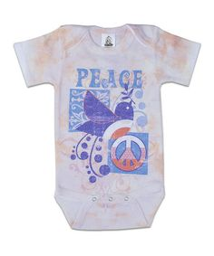 Love this Pink 'Peace' Bodysuit - Infant by Clever Birds on #zulily! #zulilyfinds