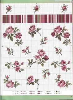 :D  Different sizes and directions of mini roses single and bunched or vined.