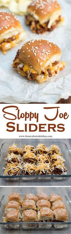 Toasted buns filled with a super flavorful Sloppy Joe mixture and melted cheese. These fun Sloppy Joe Sliders have game day party written all over them!