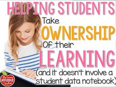 Helping students take ownership of their learning without a Student Data Notebook. Great tips for helping students reflect on their work and learning. Special Education Behavior, Student Behavior, Student Teaching, Student Goals, Physical Education, Assessment For Learning, Learning Targets, Teaching Strategies, Teaching Tips