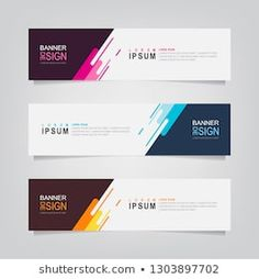 Modern vector design illustration design Stock Photo and Image Portfolio by ommus Banner Design Inspiration, Web Banner Design, Design Web, Vector Design, Layout Design, Web Banners, Template Web, Banner Template, Banner Design Templates