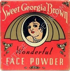 face powder made especially for African American women.  From Vintage Powder Room, a blog by Joan Renner