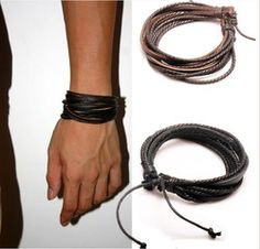 Check the way to make a special photo charms, and add it into your Pandora bracelets. 2013 New Arrival Wrap Leather Black and Brown Braided Rope Bracelet for Men and Women Charms Fashion Man Jewelry Leather Bracelets. Leather Charm Bracelets, Braided Bracelets, Bracelets For Men, Fashion Bracelets, Bangle Bracelets, Fashion Jewelry, Man Jewelry, Jewelry Watches, Girls Jewelry