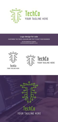 Looking for a new logo? Here's a ready-made concept you can buy. This costs less than my cheapest logo design package, but the quality is just as good – you're getting a bargain price but with all the quality you'd expect from a professional designer. It'd be ideal for an IT, computing or technology related business. Click through for more.