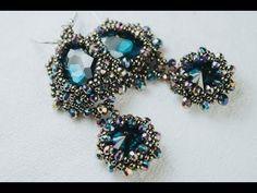 Sidonia's handmade jewelry - Sunset Glare - Beaded Earrings - YouTube