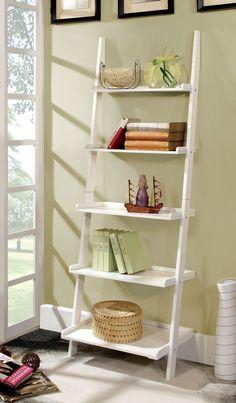 Ladder Shelf In White -Ac6213Wh
