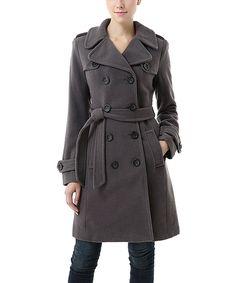 Love this Jessie G. Dark Gray Caie Wool-Blend Trench Coat by Jessie G. on #zulily! #zulilyfinds
