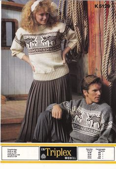 k 5129 Norwegian Knitting, Colour Combinations, Wild Life, Knitting Patterns, Sweaters, Color, Vintage, Color Combos, Knit Patterns